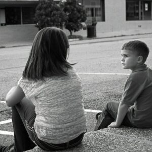 black and white photo of young boy and girl All Behaviour Consultancy webinar